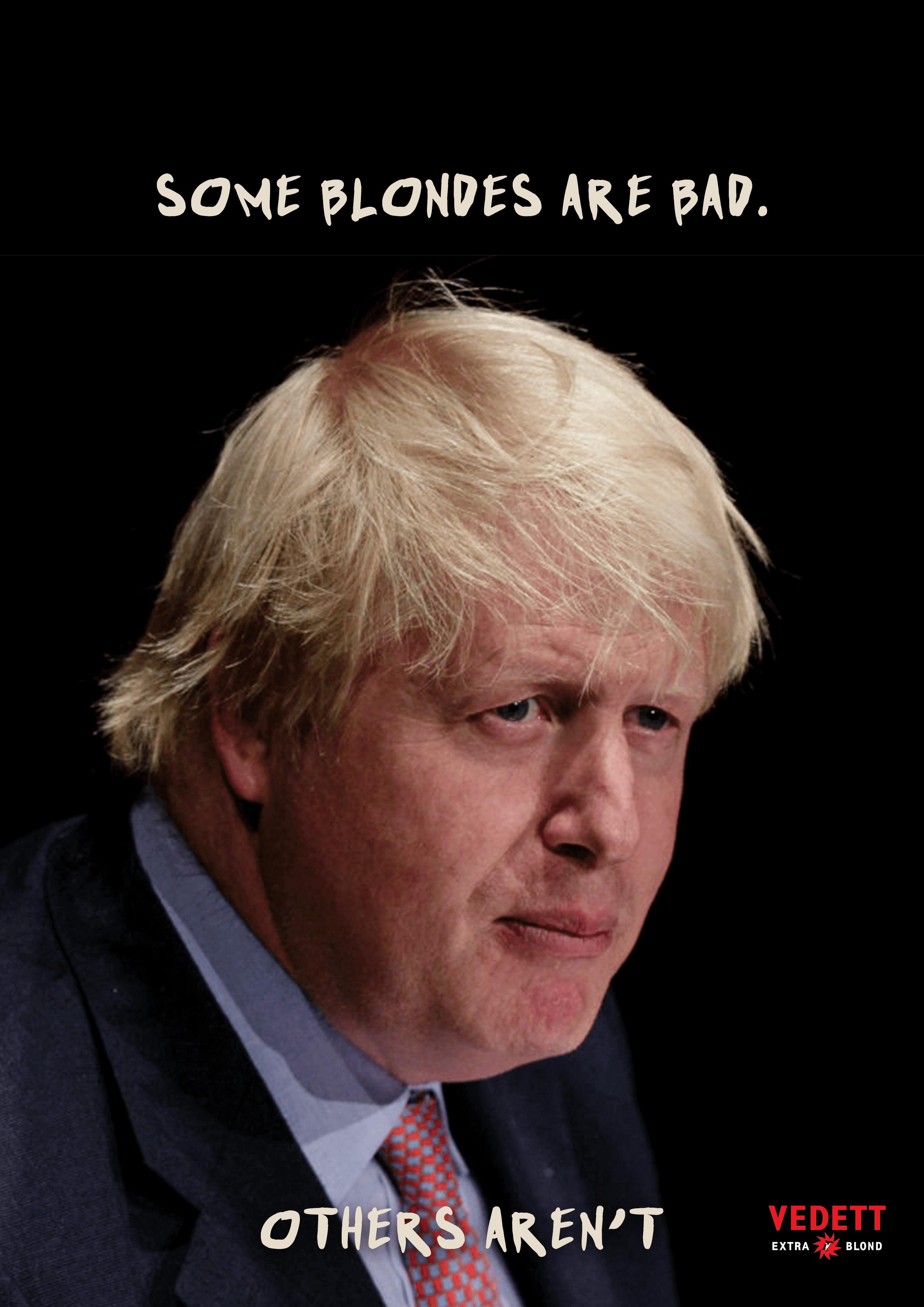 Blonde Boris Johnson