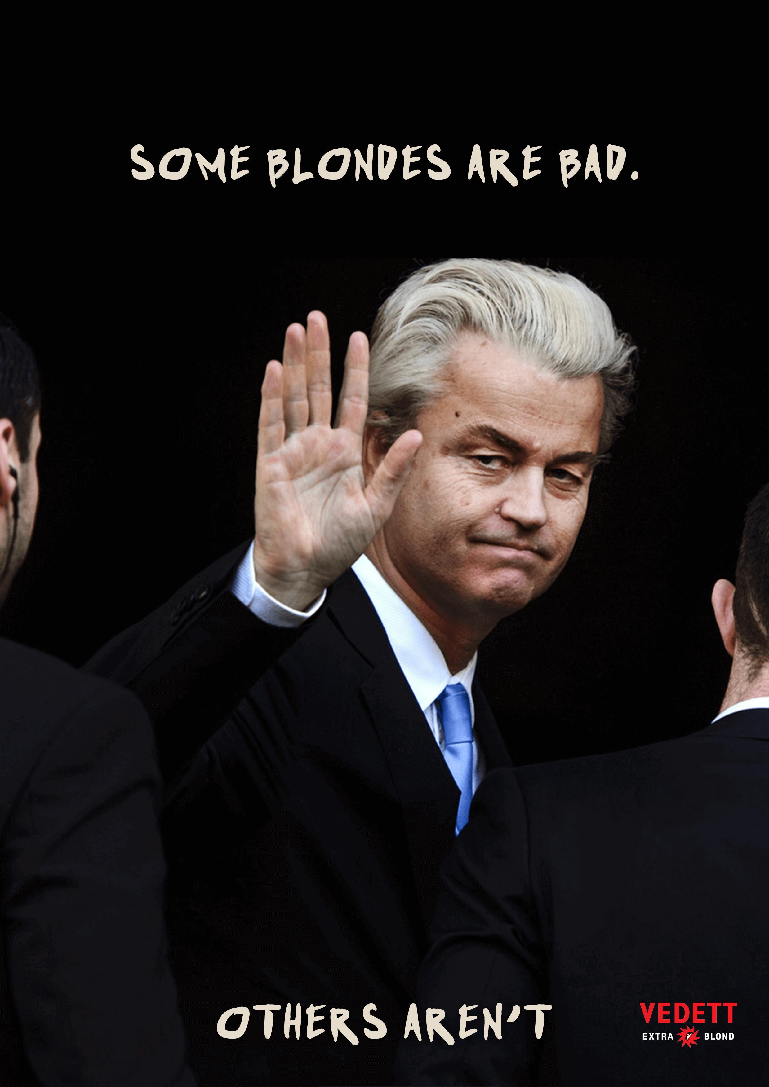 Blonde Geert Wilders